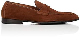 Doucal's Men's Suede Penny Loafers - Brown