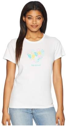 Life is Good Flip-Flop Heart Crusher Tee Women's T Shirt