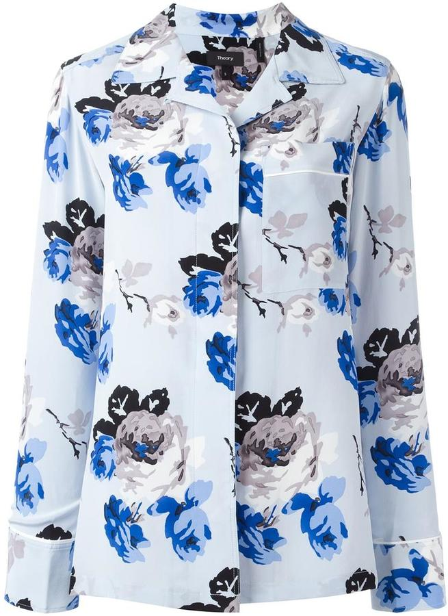 Theory Theory floral print shirt