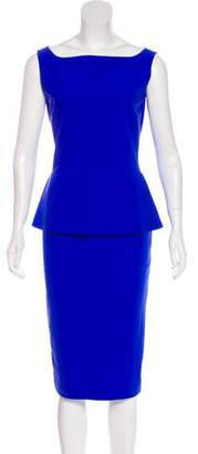 Chiara Boni Sleeveless Peplum Dress