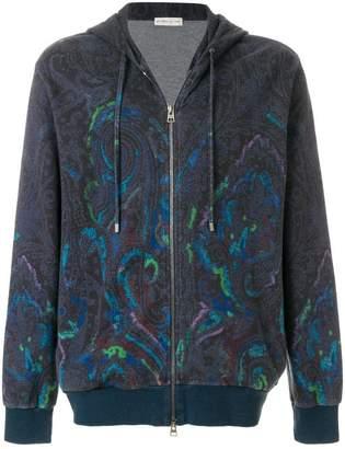Etro printed zip hoodie
