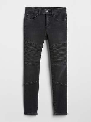Gap Superdenim Moto Skinny Jeans with Fantastiflex