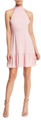 LIKELY Rory Mock-Neck Sleeveless Mini Dress