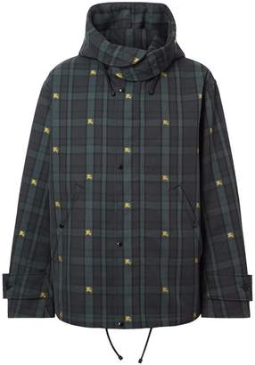 Burberry Equestrian Knight Check Nylon Hooded Jacket