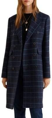 MANGO Structured Checkered Coat