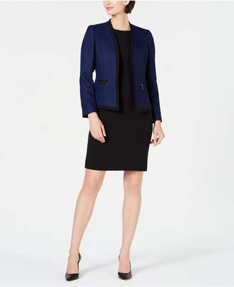 Le Suit Petite Contrast Jacket & Dress Suit