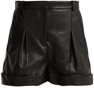 Stella McCartney Pleated faux-leather shorts
