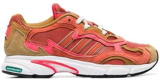 adidas red, orange and yellow temper run sneakers