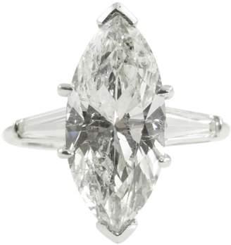 575 Denim Platinum & 3.64ct Marquise Diamond Engagement Wedding Ring Size