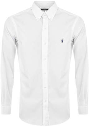 Ralph Lauren Long Sleeved Slim Fit Shirt White