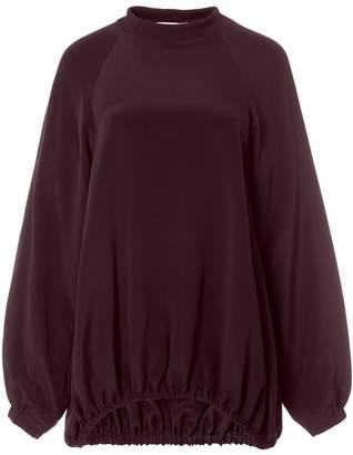Tibi Silk Sweatshirt Tunic