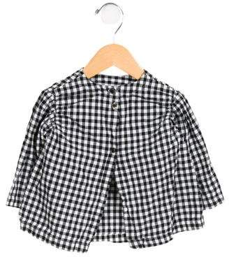 Makie Girls' Gingham Button-Up Top