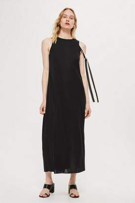 Topshop **Asymmetric Tie Sleeve Midi Dress by Boutique