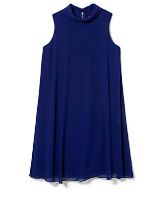 Vince Camuto Flyaway Mock-neck Dress
