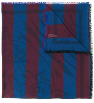 Kenzo striped tiger scarf