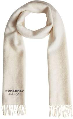 Burberry Embroidered Cashmere Fleece Scarf