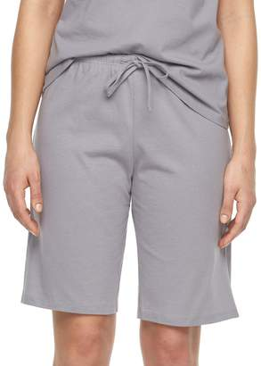 Jockey Plus Size Pajamas: Solid Bermuda Pajama Shorts