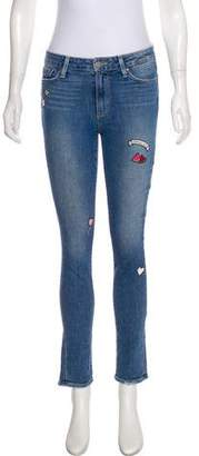 Paige Mid-Rise Distressed Jeans