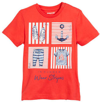 Mayoral Short-Sleeve Nautical Graphic T-Shirt, Size 12-36 Months