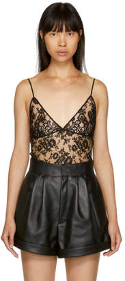 Saint Laurent Black Lace Camisole