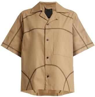 Craig Green Contrast Stitch Cotton Blend Shirt - Womens - Beige