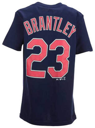 Majestic Michael Brantley Cleveland Indians Official Player T-Shirt, Big Boys (8-20)