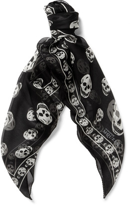 Skull-Patterned Silk Scarf $295 thestylecure.com