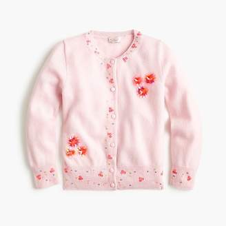 J.Crew Girls' cashmere cardigan sweater with sequins