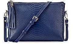 GiGi New York Women's Hailey Python-Embossed Leather Crossbody Bag