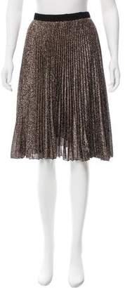 Loyd/Ford Pleated Lamé Skirt