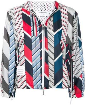 Thom Browne Bow Tie Collage Nylon Hoodie
