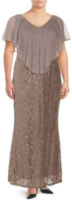 Marina Women's Lace Long Dress