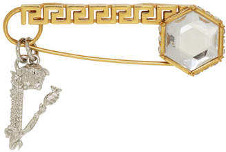 Versace Gold Crystal Virtus Brooch
