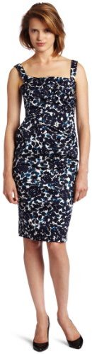 Maggy London Womens Side Ruched Sheath Dress