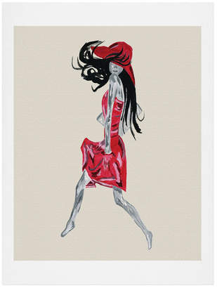 Deny Designs Amy Smith Red Dress Art Print