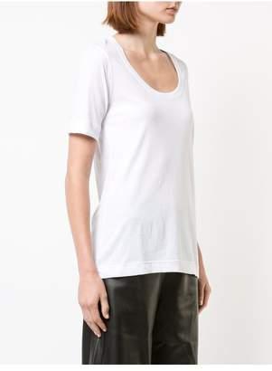 ADAM by Adam Lippes Pima Cotton Short Sleeve Scoop Neck T-Shirt