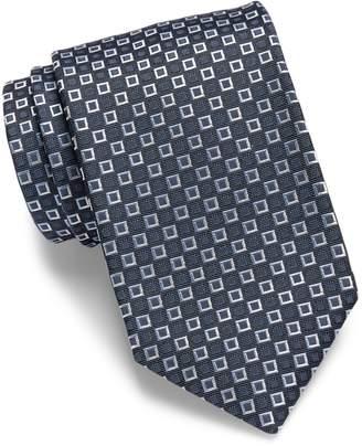 "HUGO BOSS Micro Nested Squares Italian Silk Tie, Med Blue 3"" (7.5 CM) 50299569"