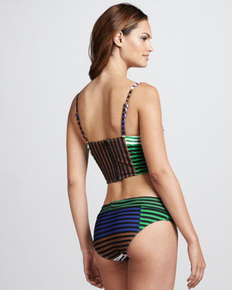 Camilla And Marc Striped Abstract Two-Piece