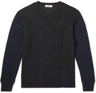 Inis Meáin Cable-Knit Mélange Linen And Cotton-Blend Sweater
