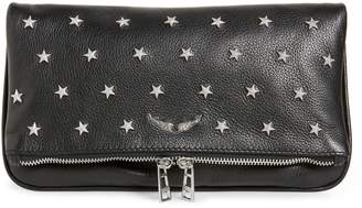 Zadig & Voltaire Rock Star Studded Leather Clutch