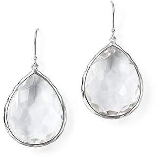 Ippolita Sterling Silver Rock Candy Large Teardrop Earrings in Clear Quartz