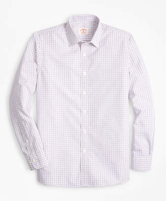 Brooks Brothers Windowpane Nine-to-Nine Cotton Poplin Shirt