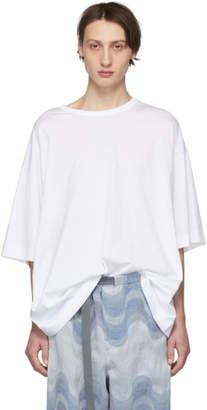 Dries Van Noten White Oversized Hoky T-Shirt