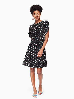 Kate Spade Flora tulip sleeve dress