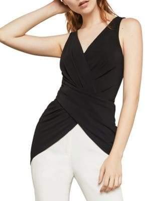 BCBGMAXAZRIA Sleeveless Wrap-Front Tunic Top