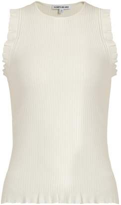 Elizabeth and James Clementine ribbed-knit tank top