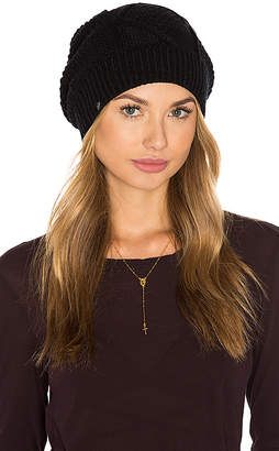 Plush Diamond Cable Knit Beanie
