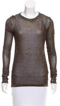 Isabel Marant Metallic Open Knit Top