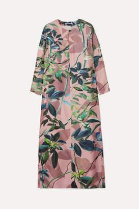 Agnona Printed Silk Midi Dress - Blush