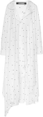 Jacquemus Rosaria Asymmetric Poplin Shirt Dress